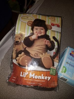 Diapers, wipes, monkey costume for Sale in Reading, PA