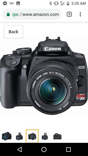 Canon Rebel Xti Camera with Zoom Lens 75-300mm for Sale in Santa Ana, CA