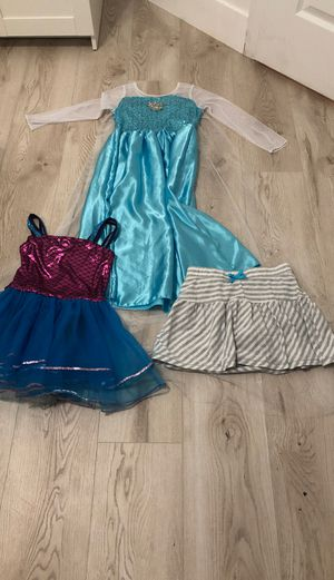 Elsa dress ,Mermaid tutu and skirt (7-8years old) for Sale in Glendale, AZ