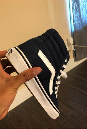 Excellent High Top Dark Blue/White Vans Size: 10 M for Sale in Fort Myers, FL
