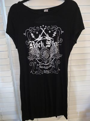 Rock Star Printed T-Shirt Dress with Back Cutout - XL for Sale in Denton, TX