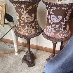 Decorative (2) Lamps  for Sale in Naperville, IL