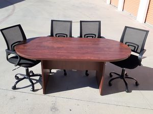 Great deal!! Excellent cherry 6x3ft conference table. Chairs sold separately for Sale in Irvine, CA