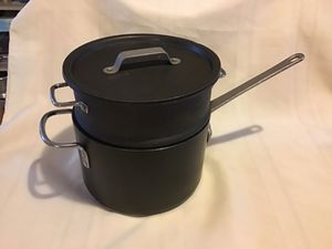 Vintage Calphalon Commercial Aluminum Cookware Pot & Steamer Insert for Sale in Tampa, FL