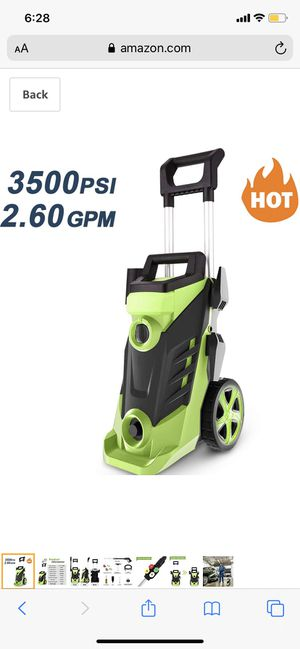 Homdox 3500PSI Pressure Washer 2.6GPM Power Washer 1800W High Pressure Washer Cleaner Machine with 4 Interchangeable Nozzle Green for Sale in Palmdale, CA