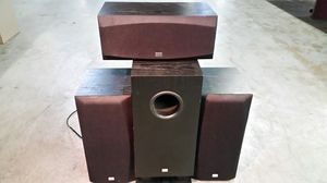 Onkyo SKW-110 Powered Subwoofer with 3 Speakers for Sale in Imperial, MO