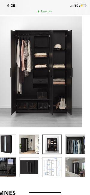 IKEA 3 DOOR BLACK WARDROBE for Sale in Walnut, CA