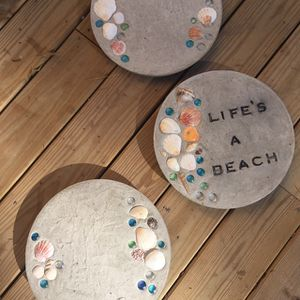 "Set of Three Stepping Stones ""Life's A Beach "" for Sale in Virginia Beach, VA"