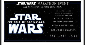 1 Adult Ticket for the Star Wars Marathon! for Sale in Chicago, IL