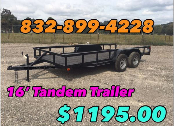 Trailers For Sale - 16' Tandem Trailer
