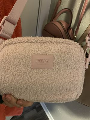 Pink furry fannypack purse for Sale in Fort Worth, TX