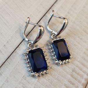 Blue Sapphire Dangle Earrings for Sale in Wichita, KS