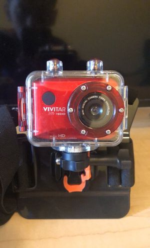 VIVITAR go pro with body strap and waterproof case for Sale in Reading, PA