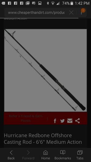 NEW Redbone IM7 Graphite Fishing Rod model 9885 for Sale in Orlando, FL