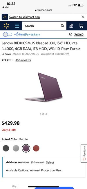 Lenovo ideapad 330 for Sale in Weirton, WV