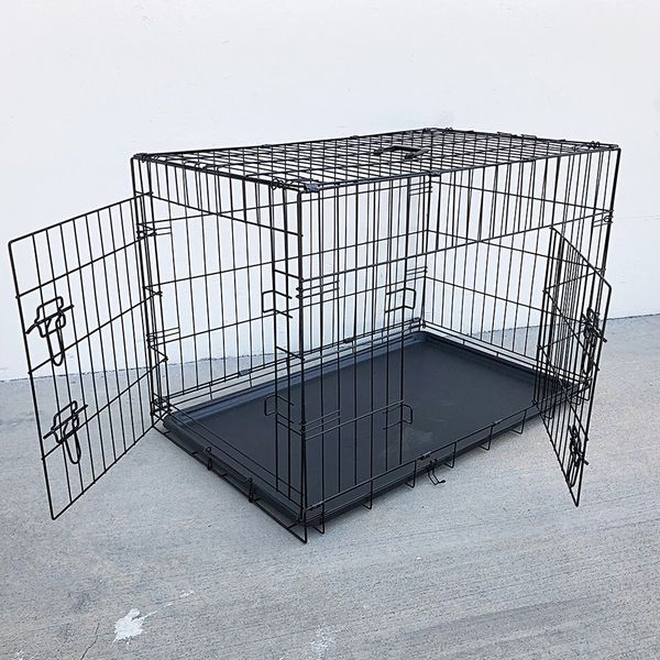 """Brand New $45 Folding 36"""" Dog Cage 2-Door Pet Crate Kennel w/ Tray 36""""x23""""x25"""""""