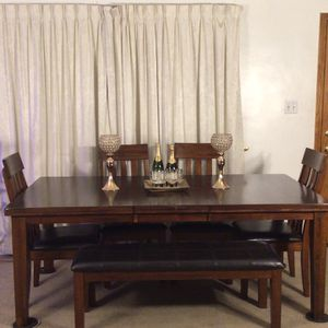 Ashley's Extendable Table, Chairs & Bench for Sale in Norwalk, CA