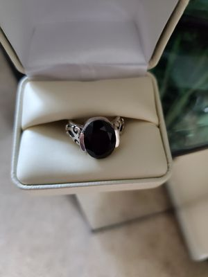 Beautiful Sterling Silver 925 Black Onyx Ring Size 8 for Sale in Virginia Beach, VA