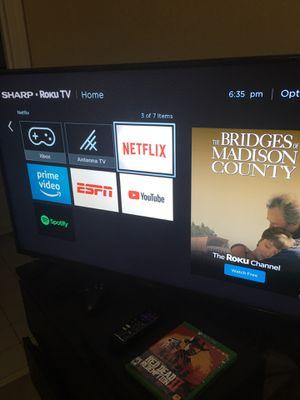 """43"""" Shark Roku 4k TV + Xbox One X for Sale in Smyrna, GA"""