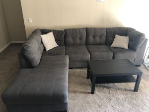 Grey couch/sectional for Sale in Gilbert, AZ