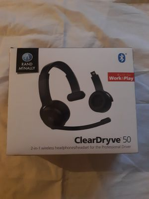Rand McNally ClearDryve 50 2-in-1 Wireless Bluetooth Over-Ear Headphones (NEW) for Sale in Hartford, CT