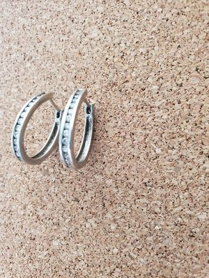 1 carat diamond hoop earrings platinum for Sale in Scottsdale, AZ