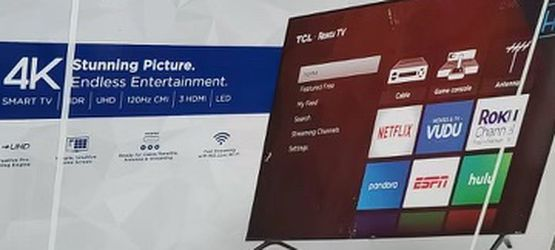 """65"""" TcL Roku Smart 4K Led Uhd Hdr Tv for Sale in Bell,  CA"""