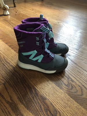 Merrell kids girl snow boots size 11 excellent condition for Sale in Dearborn, MI