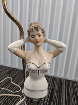 Vintage Boudoir Lamp Elegant Porcelain Half Lady for Sale in Monroe, WA