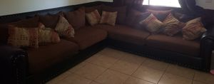 Sectional couch and chair with ottoman for Sale in Laveen Village, AZ