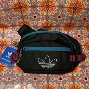 NWT Adidas Originals Utility Crossbody Waist Fanny Pack Bag Black Berry Teal for Sale in Garden Grove, CA
