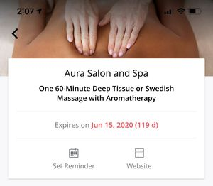 Massage at Aura Salon for Sale in Puyallup, WA