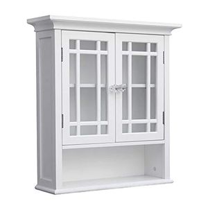 Elegant Home Fashions Neal 2-Door Wall Cabinet in White for Sale in Dallas, TX