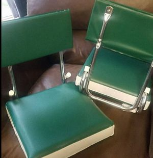 Like new bleacher folding Cushion chairs for Sale in Morton Grove, IL
