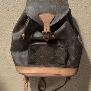 AUTHENTIC LOUIS VUITTON MONOGRAM MONTSOURIS BACKPACK HAND BAG SHOULDER BAG MONOGRAM $799 OR BEST OFFER NO TRADES for Sale in Fountain Valley, CA