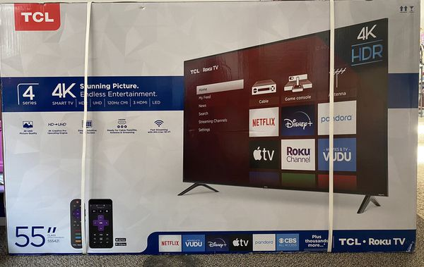 TCL 55 inch brand new ( still in box with complete package)