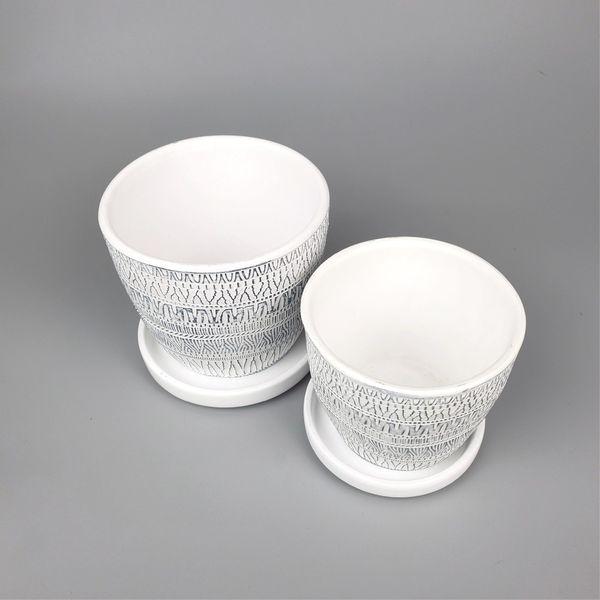 Set of 2 Terra Cotta Planting Pots