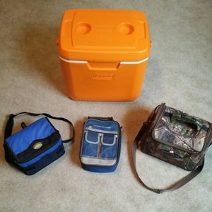 Assortment of Regular and Lunch Coolers for Sale in Murfreesboro, TN