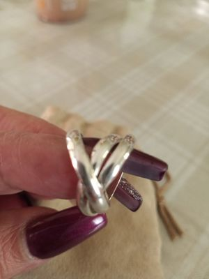 New.925.Silver. 3 band ring.size 6. for Sale in Fullerton, CA