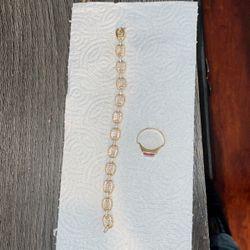 Gucci Bracelet 14k 26 Grams Ring 14k 6.7 Gram for Sale in Andover,  MA