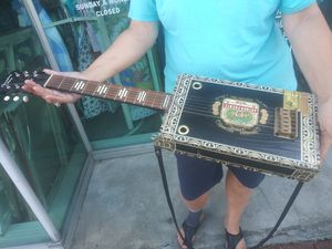 EPIC Cigar Box Guitar!!! One of a kind!!! for Sale in Nederland, TX