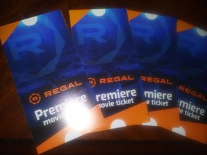 (4) Regal Premier Movie Tickets for Sale in Santa Maria, CA