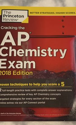 The Princeton Review AP Chemistry 2018 Edition (ISBN: 978-1-5247-1003-3) for Sale in New Baltimore,  MI