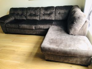 Set of large sectional sleeper and sofa sleeper with four more years warranty. Moving sale ASAP! for Sale in Victorville, CA