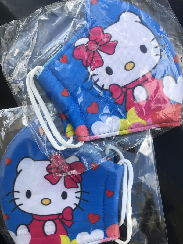 Blue Hello Kitty Facemask 😻