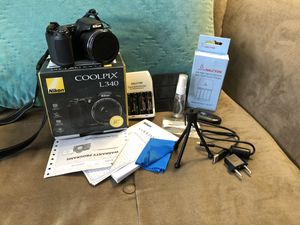 Nikon Coolpix L340 20.2MP Digital Camera Plus Carry Bag ! AND ALL Accessories! for Sale in Coconut Creek, FL
