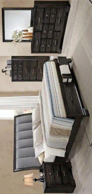 🔹Jaymes Gray Storage Platform Bedroom Set for Sale in Silver Spring, MD