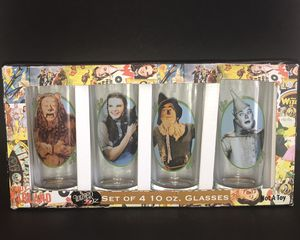 WIZARD OF OZ 10oz Drinking Glasses Set 4 Collectibles-STARRING CAST for Sale in Fayetteville, NC