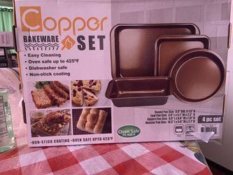 Copper bakeware set 4-piece for Sale in Cicero,  IL
