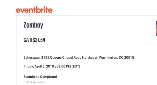 (3) Zomboy tickets for tonight @ echostage